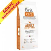 КУЧЕТА | Храна за кучета | Brit Care Super Premium Adult Medium Breed Lamb, 12 + 2кг ГРАТИС