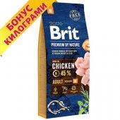 КУЧЕТА | Храна за кучета | Brit Premium Adult M, 15 + 3кг ГРАТИС