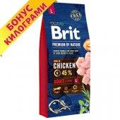 Brit Premium Adult L, 15 + 3кг ГРАТИС