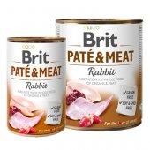 Brit Care Dog Pate & Meat, пастет с хапки - Заек и пиле