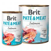 Brit Care Dog Pate & Meat, пастет с хапки - Сьомга с пиле