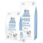 Brit Care Grain Free Dog MINI Sensitive - с еленско