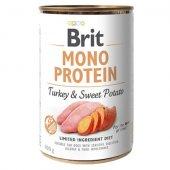 Brit Care Dog Mono Protein - Пуешко и сладък картоф, консерва