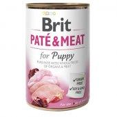 Brit Care Dog Pate & Meat PUPPY, пастет с  хапки - за малки