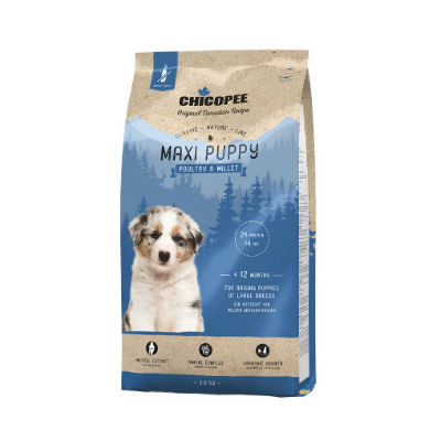 Chicopee Nature Classic Puppy Maxi Chicken and Millet -  кученца от едрите породи с пиле и сорго