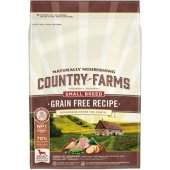 Country Farms Dog Grain Free Small & Mini Adult с пуешко
