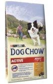 КУЧЕТА | Храна за кучета |  Dog Chow Active (за кучета с повишена активност), 14кг с ПОДАРЪК 6 бр лакомства