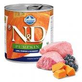 N&D Dog с агне, тиква и боровинки, консерва 285гр