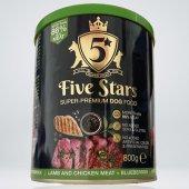 Five Stars Консерва с агнешко, плодове и боровинки