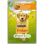 Friskies Dog VitaFit Adult с Пиле и Моркови в Сос - пауч 100 гр