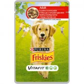 Friskies Dog VitaFit Adult с Говеждо и Картофи в Сос - пауч 100 гр