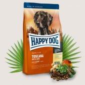 Happy Dog Supreme Toscana - Пълноценна храна за кучета с агнешко месо, сьомга и билки