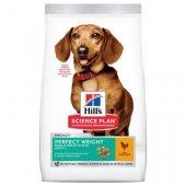 Hills Dog Perfect Weight Small & Mini, с пиле - За намаляване и поддържане на теглото