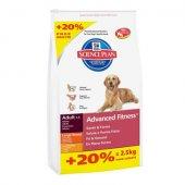 КУЧЕТА | Храна за кучета | Hills SP Canine Adult Advance Fitness Large Breed Chicken - 12 кг с 2.5 кг Гратис