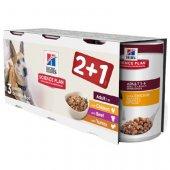 Hills Dog Adult mix - 3 бр консерви за кучета над 1 г, 3 x 370 гр