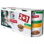 Hills Dog Puppy с пиле - 3 бр консерви за малки кученца, 3 x 370 гр