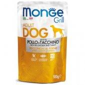 Monge Dog Grill - Пауч с хапки на грил с пиле и пуйка