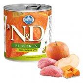 N&D Dog с глиганско, тиква и ябълка, консерва 285гр