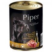 Piper Adult, Консерва с пилешки сърца и кафяв ориз