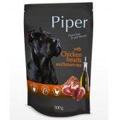 Piper Adult Пауч - 500 гр. с пилешки сърца и кафяв ориз