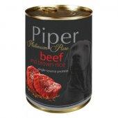 Piper Platinum Pure Adult, Консерва за кучета с телешко и кафяв ориз