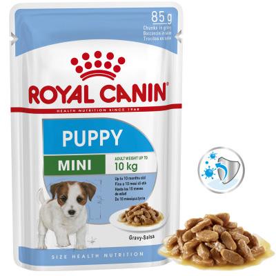 Royal Canin Dog Mini Puppy - 85 гр пауч, хапки в сос грейви