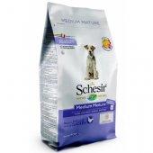 Schesir Dog Medium Mature - За кучета над 6 години, с пиле