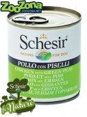 Schesir Dog Пилешки филенца в желе с ориз и грах, 285гр
