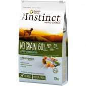 True Instinct Dog NO GRAIN Salmon Medium-Maxi Adult със сьомга, БЕЗ ЗЪРНО
