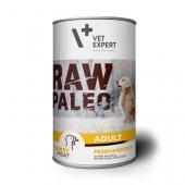 RAW PALEO Dog Adult с пуешко - 6 броя консерви