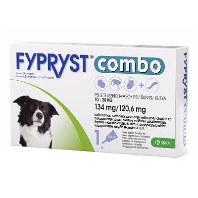Fypryst Combo за кучета от 10 до 20 кг, 3 пипети в кутия