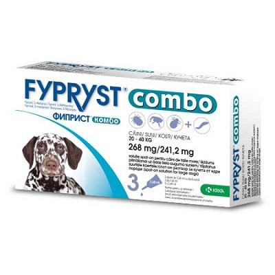 Fypryst Combo за кучета от 20 до 40 кг, 3 пипети в кутия