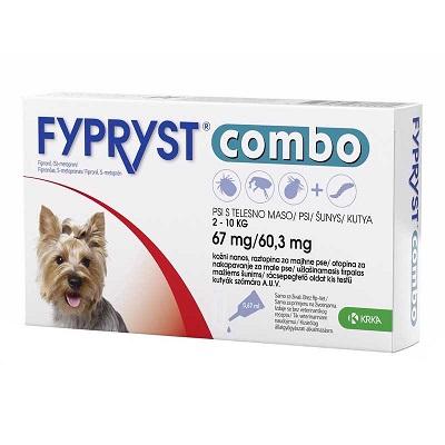 Fypryst Combo за кучета от 2 до 10 кг, 3 пипети в кутия