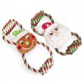 Camon Коледна играчка с въже и плюш - 28x14см