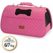Camon Ватирана чанта Rombo - 42x25x25см, розова