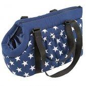 Ferplast Borsello 40 - Транспортна чанта за животни, синя на звезди