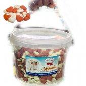 Бисквитки Мини сърчица с вкус на ягода, 1кг в кофичка