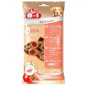 8in1 Minis Лакомство за кучета с риба и домати, 100 гр