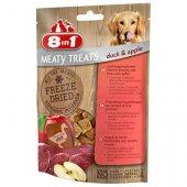 8in1 Dog Meaty Freats - Замразено беззърнено лакомство с патешко месо и ябълки