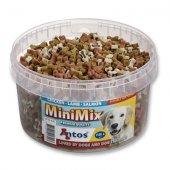 Мек снакс Antos Mini Mix, 1.5кг - пиле, агне, сьомга