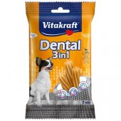 Vitakraft Dental 3in1 ExtraSmall - за кучета до 5кг, 7 бр стика