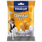 Vitakraft Dental 3in1 Small - за кучета 5-10кг, 7 бр стика