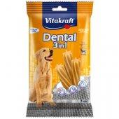 Vitakraft Dental 3in1 Medium - за кучета над 10кг, 7 бр стика