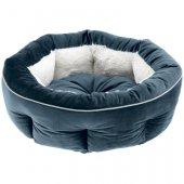 Ferplast Marquis 45 - Кадифено кръгло легло, 45см, синьо