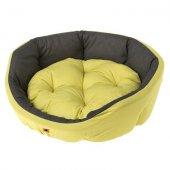 Ferplast Diamante 45 - легло от памучен плат, 47 см - жълто-кафяво