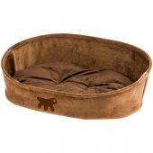 КУЧЕТА | Легълца | Ferplast LASKA - Кафяво легло от мека кадифена материя