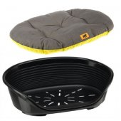 Ferplast Siesta Deluxe 12 - пластмасово легло с дюшече, дъно 100 см, различни цветове