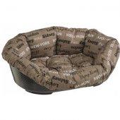 Ferplast Sofa 6 - пластмасово легло с дюшек лукс, 73 см, кафяво