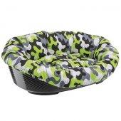 Ferplast Sofa 10 - пластмасово легло с дюшек лукс, 96 см, зелен камуфлаж