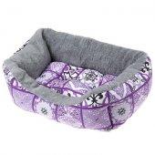 Ferplast Coccolo 50 F - Памучно легло с плюш, 55 см, лилаво